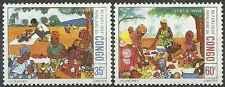 Timbres Congo 446/7 ** lot 18021
