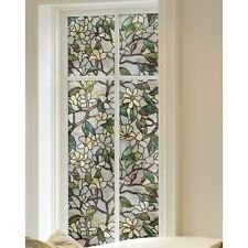 Privacy Film For Glass Windows Decorative (2) Static Cling Magnolia Floral 24x36