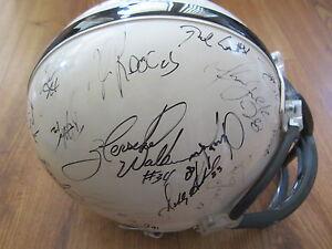 1999 NFL Players signed FS helmet Tiki Barber Tim Brown Faulk Herschel Walker