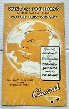 Cunard Special Sailings Bermuda Jamaica Bahamas brochure