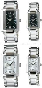 Casio Quartz Gents Elegant Steel Square Watch MTP1233D Choice of 2 UK SELLER