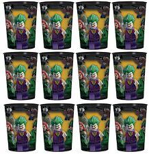 12x DC Batman Lego Plastic Reusable Cups 16oz Birthday Party Favors Supplies