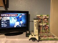 MICROSOFT XBOX 360 20GB CONSOLE CONTROLLER (TESTED/WORKS) & FIFA GAMES BUNDLE