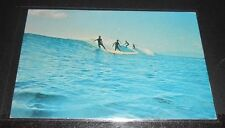 Vintage Postcard Surfing San Diego So California