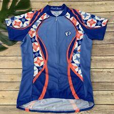 Pearl Izumi Select Womens Cycling Jersey Size M Blue Pink Geometric Print
