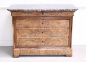 Antique french burr walnut commode