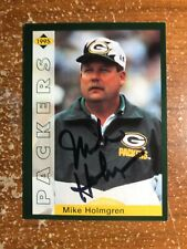 SIGNED MIKE HOLMGREN 1995 FOOTBALL CARD AUTOGRAPH PACKERS