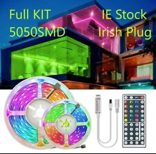 Led Strip Lights Full KIT 5050 SMD 5 10 15 20 m UK Plug WI-FI wifi ip66
