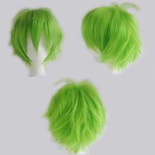 Elegant Halloween Short Straight Full Wig Dip Dyed Cosplay Wigs Black Dark Brown