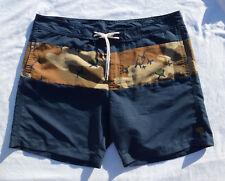 G-STAR RAW Mens JOAKIM Navy Camo Beach Swim Shorts Trunk Size 2XL XXL = 38
