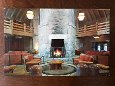 Fireplace in Lobby of Timberline Lodge, Mount Hood, Oregon C16