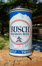 "Excellent Busch Bavarian ""Tab Top"" Pull Tab Beer Can! Glue Seam Example!"