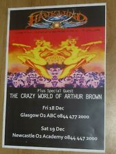 Hawkwind - Glasgow/Newcastle dec.2009 live music show tour concert gig poster