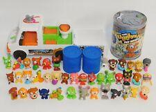 Lot 41 The Ugglys Pet Shop Miniature Figures Dirty Dog Wash Van & Storage Cans