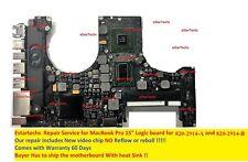 """MacBook Pro 17""""  820-2914-A / 820-2914-B Logic board Video chip Repair Service!"""