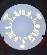 Wedgwood Blue JasperWare Plate Sacrifice Edge 9.5� Vintage Set Of 4 No Reserve