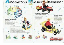 Publicité Advertising 037  1990   jeux jouets Clairbois ( 2 pages)