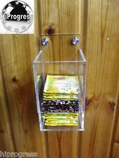 Acrylic Wall Dispenser Holder Stand Mount Rack Organizer for Tea Coffee Bags
