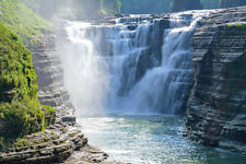Letchworth Park New York Waterfall, Wall Art, Large Canvas Metal Photo Art Print