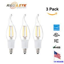 3W Flame  LED Light Bulb for Chandelier Candelabra 2800k 30W Equivalent CA10 E12