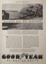 1929 AD.(XC15)~GOODYEAR TIRE AND RUBBER CO. GOODYEAR KLINGTITE TRACTOR BELT