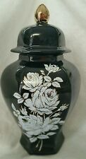Adult Black Urn / white/gold decal.. cremation/memorial/Ashes made in the USA