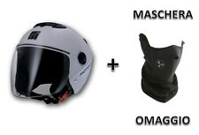 OFFRE Casque Blanc Visière + Masque Hommage Custom Bike e Scooter Taille XL