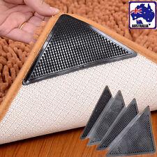 4pcs PU Non Slip Rug Carpet Mat Grippers Corners Reusable Anti Skid HCAR64505x4