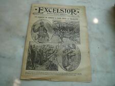 journal Excelsior 03 03 1916 Lanceur de bombe à main dans tranchée guerre 14-18