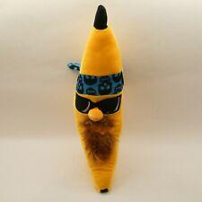 """Banana Plush 17"""" With Beard Sunglasses & Blue Skull Headband"""
