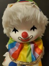 Musical Wind Up Clown With Moving Head Sankyo Rainbow Tune Its A Smal World
