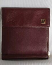Pierre Cardin Leather Bifold Maroon Money Clip Wallet