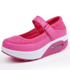 Womens Mesh Strap Buckle Casual Sport Shoes Platform Clog Nurse Comfort Shoes