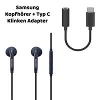 Original Samsung InEar Kopfhörer Für Samsung Galaxy S20 S21 USBC Adapter Schwarz