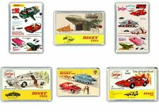 SET OF 6- DINKY TOYS,THUNDERBIRDS,JOE 90 ,SCARLET JUMBO FRIDGE / LOCKER MAGNETS