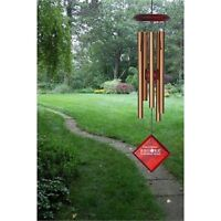 "Woodstock CHIMES OF MERCURY 14"" BRONZE WIND CHIMES, 5 Tubes approx 6.5"" Long #dm"
