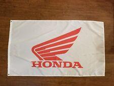 HONDA MOTORCYCLES WHITE RED 3X5FT GARAGE MANCAVE SHADOW GOLD WING FURY INTERSTAT