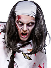 Calvo Top Zombie Parrucca WALKING DEAD Halloween Uomo FANCY DRESS ACCESSORIO NUOVO orrore
