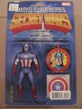 Secret Wars #4 Marvel Comics Action Figure Variant Captain America 9.6 Near Mint