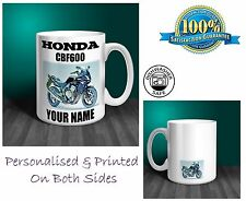 Honda CBF600 Motorbike Personalised Ceramic Mug Gift (MB063)