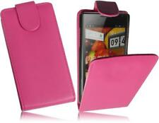 Huawei Ascend P1 (U9200) Flip Handytasche PU Leder Hülle Pink2 Cover Case Tasche