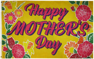 3x5 Happy Mother's Day (Gold) 3'x5' Premium Quality Polyester Flag (FI)