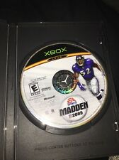 Xbox Ea Sports Madden Nfl 2005 Football Video Game Complete!