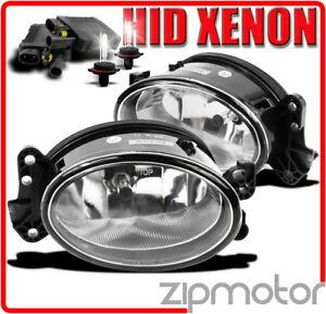 07 08 09 MERCEDES-BENZ E-CLASS W211 CHROME BUMPER FOG LIGHTS LAMP+6000K HID E280