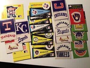 Vintage 1980's Fleer Team Baseball Sticker Lot of 24. Yankees Indians,cards 818a