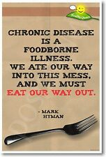 Chronic Disease is a Foodborne Illness - NEW Nutrition Healthy Foods POSTER