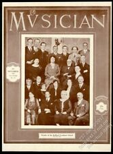 1928 Guilliard Graduate School faculty photo The Musician framing cover November