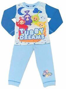 Boys Kids Teletubbies Pyjamas Nightwear PJs 12 Months to 4 Years Blue Cotton Po