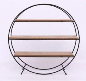 Round Standing Shelves Unit
