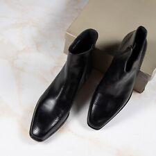 NWB $2200 A.TESTONI  BOOTS Black Leather 11.5UK/12.5US/45.5EU G Width